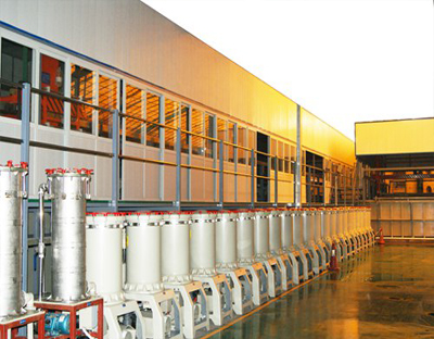 Automatic sanitary fittings electroplating line