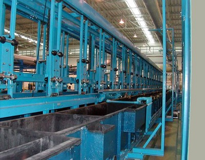 Automatic vertical lifting copper nickel chrome plating line