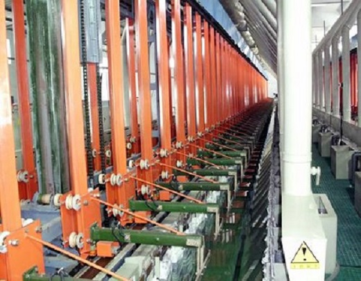 Automatic vertical lifting rack plating line for plastic