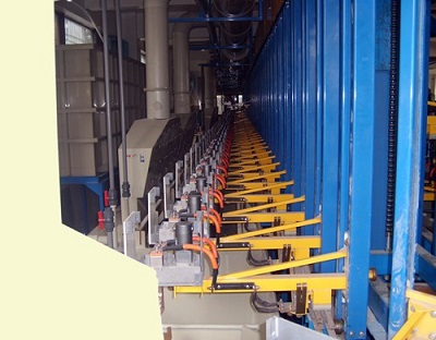 Automatic vertical lifting single rotate production line