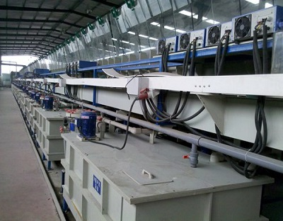 Steel tape copper plating reel to reel production line