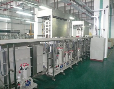Thin plate nickel gold plating reel to reel production line